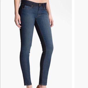 Paige Denim 'Emily' Two Tone Skinny Jeans, sz 28